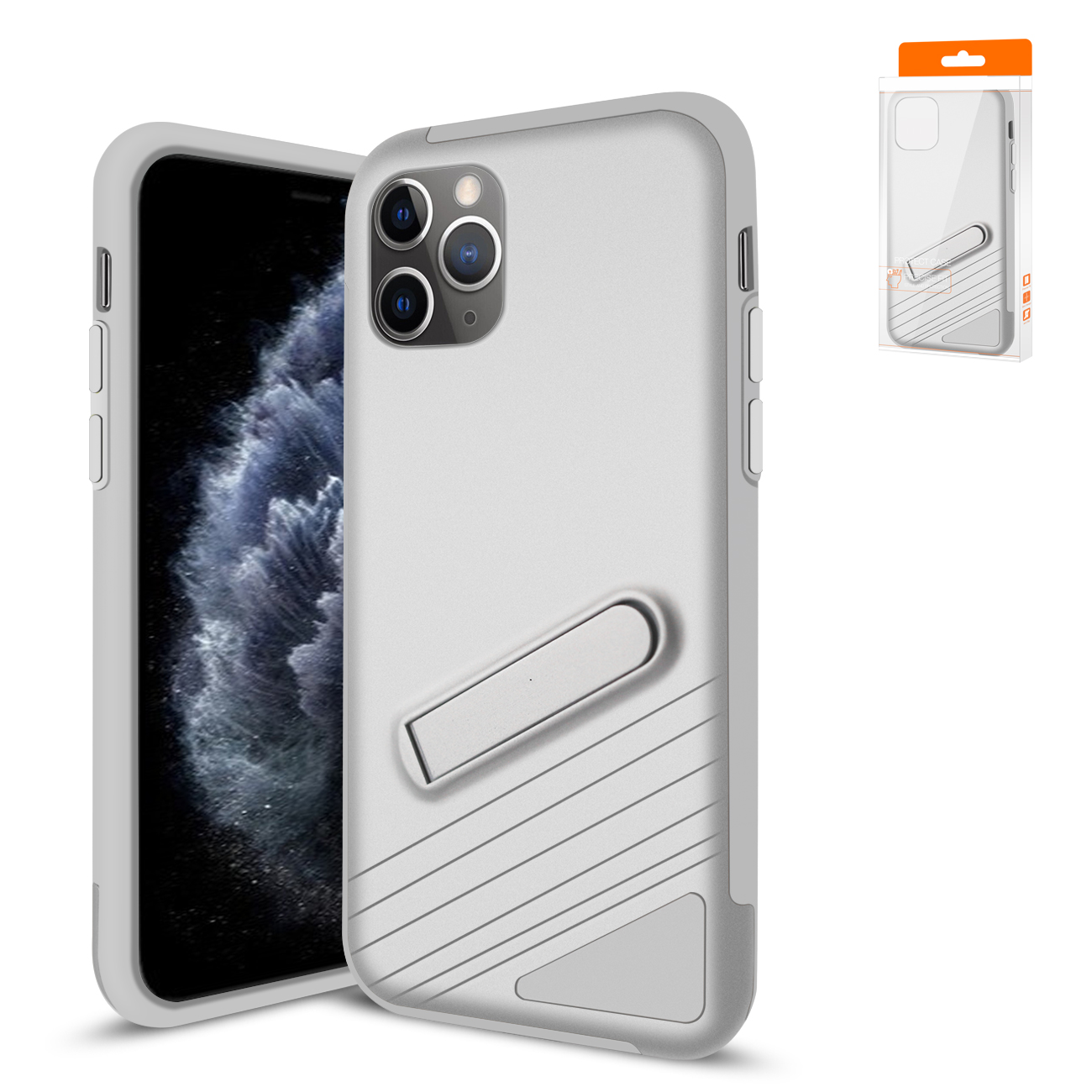Apple iPhone 11 Pro Max Armor Cases In Silver