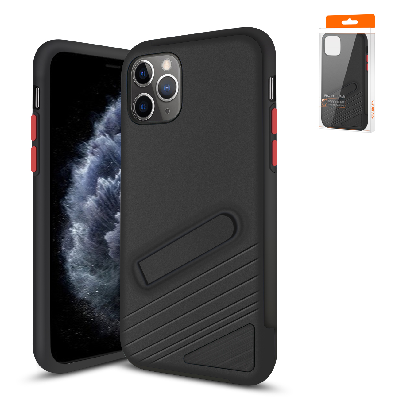 Reiko Apple iPhone 11 Pro Armor Cases In Black