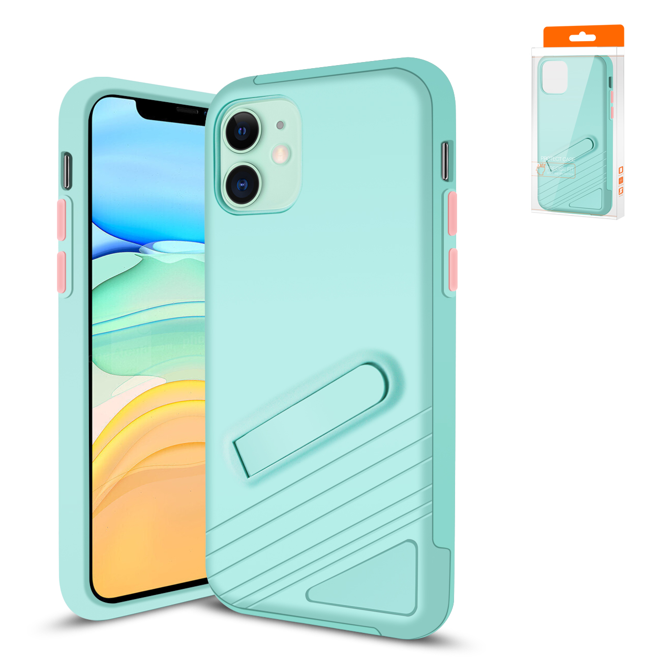 Reiko Apple iPhone 11 Armor Cases In Blue