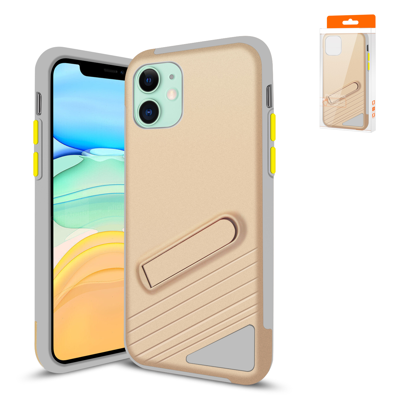 Reiko Apple iPhone 11 Armor Cases In Gold