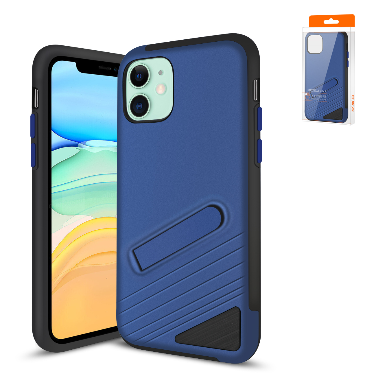 Reiko Apple iPhone 11 Armor Cases In Navy