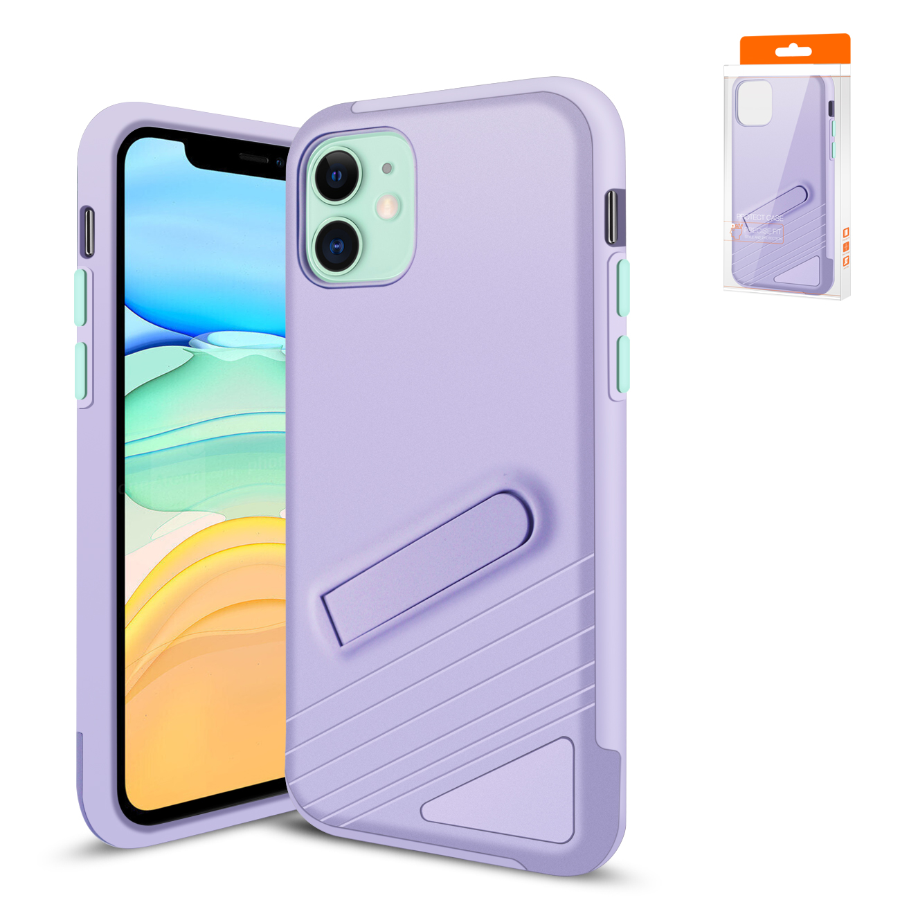 Reiko Apple iPhone 11 Armor Cases In Purple