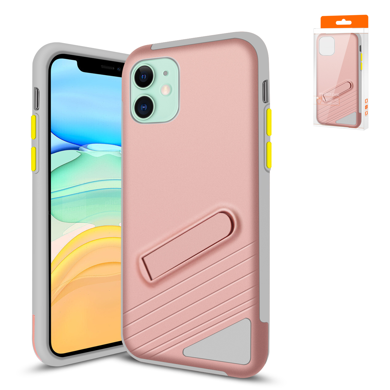 Reiko Apple iPhone 11 Armor Cases In Rose Gold