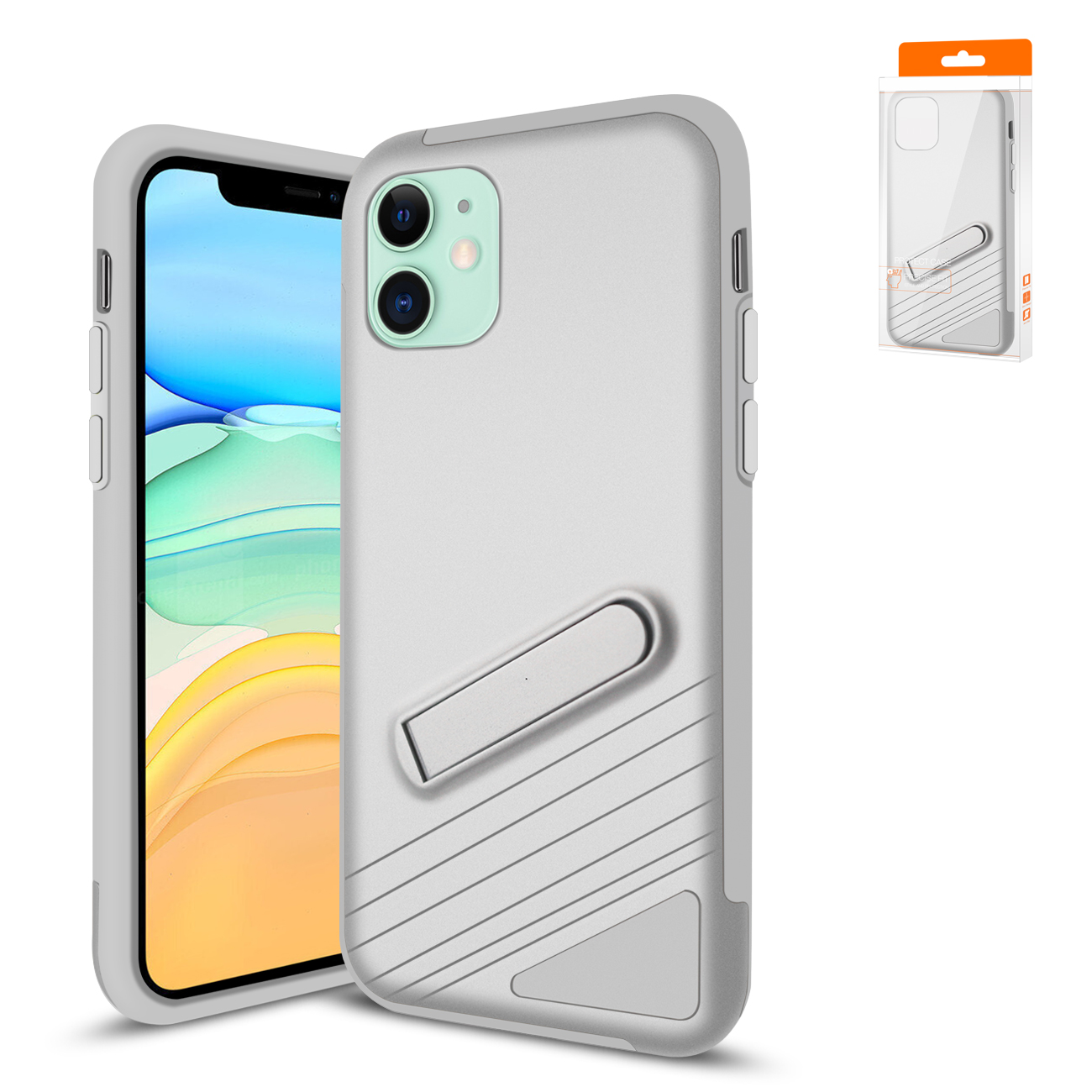Reiko Apple iPhone 11 Armor Cases In Silver
