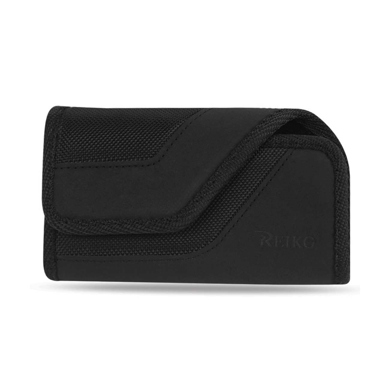 HORIZONTAL RUGGED POUCH WITH IPHONE5 IN BLACK (5.13X2.936X0.7 INCHES PLUS)