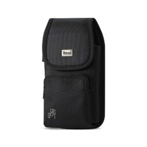 Reiko Vertical Rugged Pouch With Z Lid Pattern In Black (5.8X3.2X0.7 Inches)