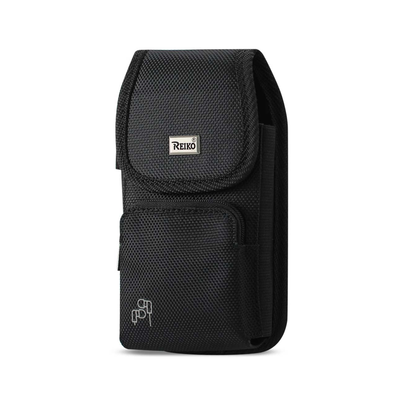 Vertical Rugged Pouch With Z Lid Pattern In Black (6.6X3.5X0.7 Inches)