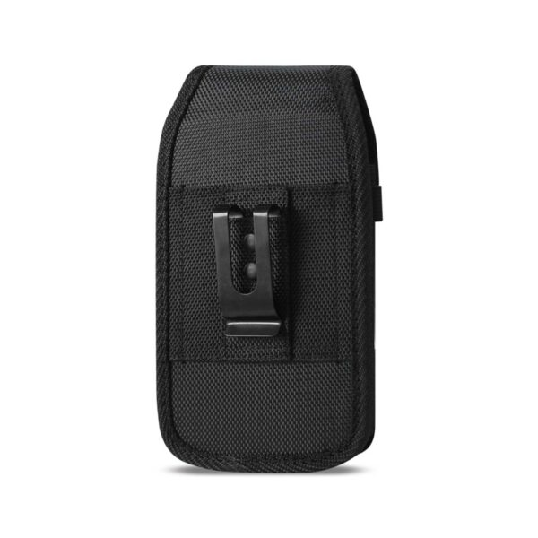Vertical Rugged Pouch With Z Lid Pattern In Black