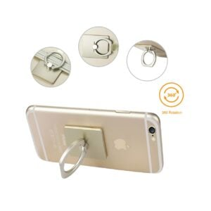 REIKO UNIVERSAL METAL RING GRIP HOLDER WITH HOOK IN GOLD