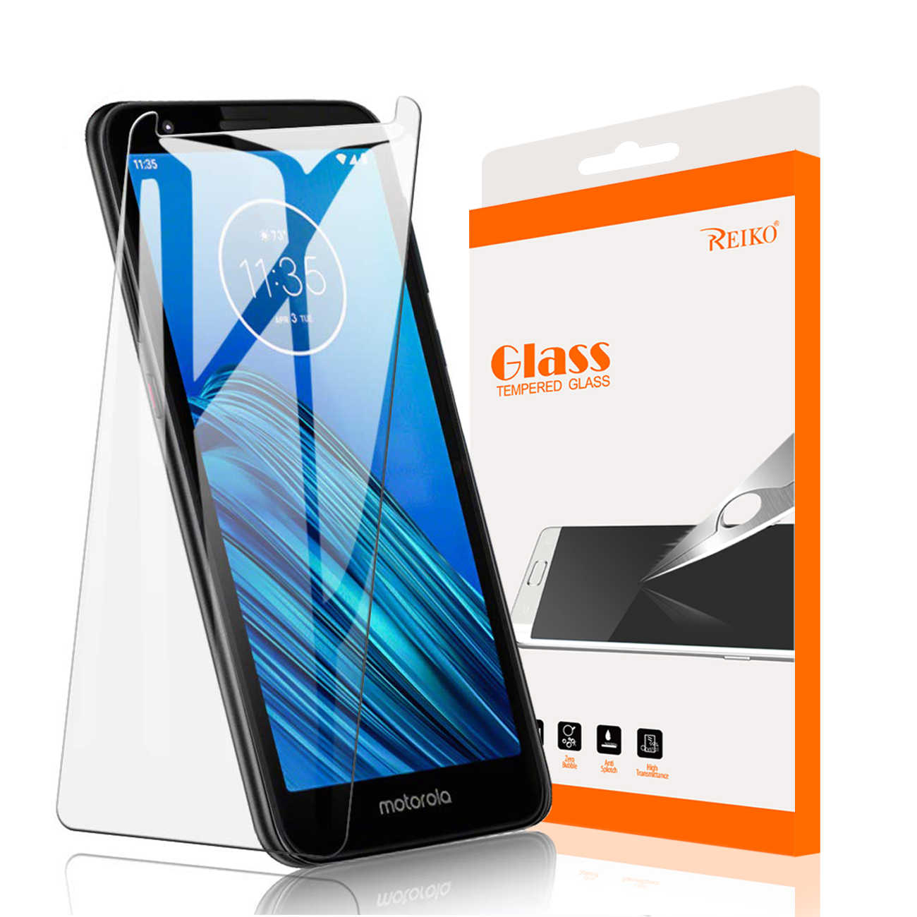 MOTOROLA E6 Tempered Glass Screen Protector In Clear