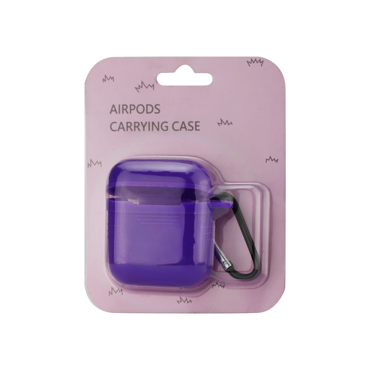 Silicone Case for Airpods in Purple