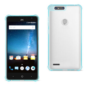 ISTIK ZTE Blade Z MAX/Z982/ZTE Sequoia Clear Bumper Case With Air Cushion Protection In Clear Navy