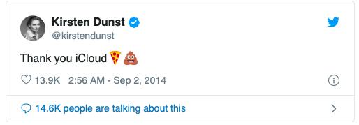 Kirsten Dunst iPhone Tweet